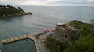 Blick vom Hotel in die Bucht von Ulcini